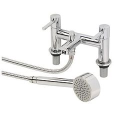 Swirl Essential Dual Lever Bath / Shower Mixer Bathroom Tap