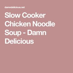 Slow Cooker Chicken Noodle Soup - Damn Delicious