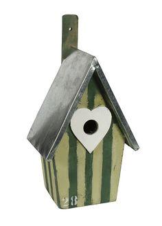 Ptaci budka - srdicko a prouzky. Cena: 540 Kc. Nakupujte na www.almara-shop.cz.