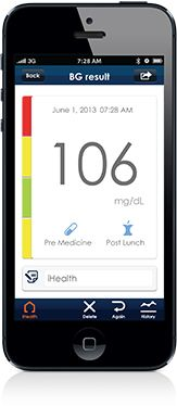 "Once you've downloaded the free ""iHealth Gluco-Smart"" app from the App Store, you'll be ready to use your Wireless Smart Gluco-Monitoring System. We've made it easy for you to manage your blood glucose levels, test strips, medication and insulin from wherever you are."