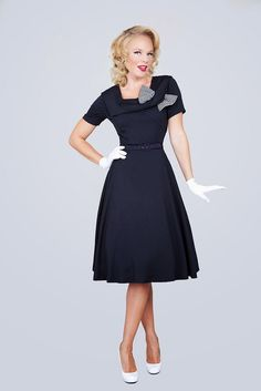 50s day dresses with sleeves