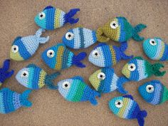 Stripy Crochet Fish Pattern by FeltBirdsKitShop on Etsy, £2.99