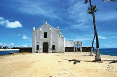a church on the Indian Ocean