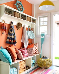 Bright and colorful surfer chic house