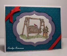 CC385 Backyard Swing by snowmanqueen - Cards and Paper Crafts at Splitcoaststampers