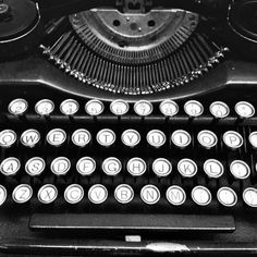 photographyissketch:  Vintage Typewriter, Close up, Black and White,  Fine Art, Still Life , Rustic,  Photograph By Paper-Mâché Dream Photography, fPOE