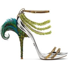 We love this peacock style shoe. We think this is would be a perfect shoe for a masquerade style party!