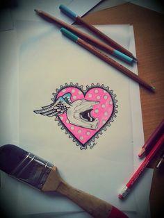 Motocross tattoo by Vi