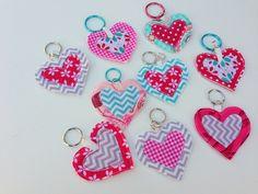 scrap material hearts