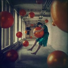 """Beautiful realization of the Russian artist and photographer Anka Zhuravleva who staged young women in imaginary situations defying all laws of gravity, a small spotlight on """"Distorted Gravity"""", an amazing series of pictures you will travel in a strange and fantastic world."""