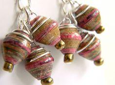 Nicaraguan paper bead earrings