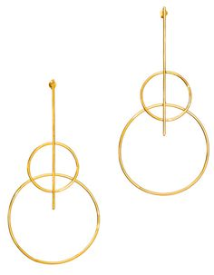 Jewelry Trend: Double hoop earrings Boucles d'oreilles Eloise Fiorentino http://www.vogue.fr/joaillerie/shopping/diaporama/tendance-bijoux-croles-double-or-et-argent/24455#boucles-doreilles-eloise-fiorentino