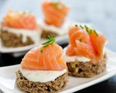 Canapés au saumon fumé et cream cheese