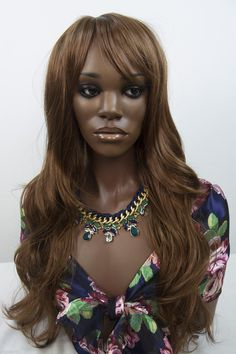 Auburn warmer brown red Red Long Wavy Straight Wigs (ebay link) Straight Wigs, Wigs For Sale, Auburn, Brown, Red, Ebay, Link, Products, Fashion