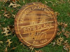 Beer Bar Home Brew Sign Micro Brew Wine Barrel by TopGrainWoodShop