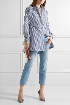 Adam Lippes   Striped cotton-poplin shirt   NET-A-PORTER.COM