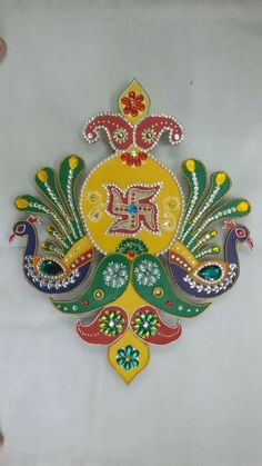 Diwali Decorations At Home, Festival Decorations, Diy Crafts For Gifts, Diy Home Crafts, Diwali Craft, Diwali Diya, Peacock Art, Peacock Rangoli, Foam Board Crafts