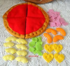 Felt Pizza Hawaiian Felt Food eco friendly childrens by decocarin