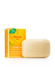 Baby's delicate skin gets mild cleansing with this all natural baby bath soap. The soap is a lightly fragrant, moisture-balancing bar that's perfect for your baby's sensitive skin.