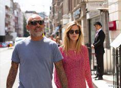 Exclusif - Christian Audigier et Nathalie Sorensen à Londres, le 5 août 2013