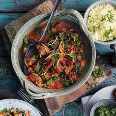 Lamb, date and spinach tagine