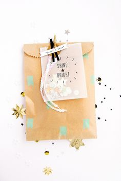 cute packaging with kraft & confetti dots