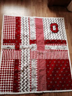 Ohio State Quilt on Etsy, $150.00