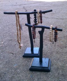 Set of 2 Twig Jewelry Display Stands by SilverSoupJewelry on Etsy, $20.00