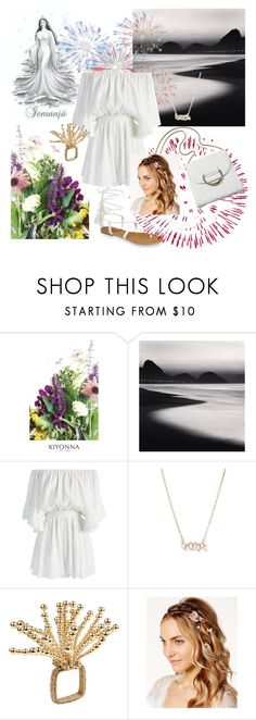 """""""New Years' Eve at Rio"""" by ritaosantos ❤ liked on Polyvore featuring Kiyonna, Chicwish, Suzanne Kalan, Kim Seybert, Josette, white, fireworks, NewYearsEve and riodejaneiro"""