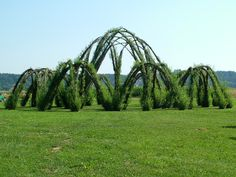 8 meter high willow structure by Marcel Kalberer