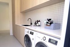 Must-haves vs lust-haves: Laundry Small Laundry Rooms, Laundry In Bathroom, Laundry Design, Stacked Washer Dryer, Home Renovation, Must Haves, Lust, Kids Room, Home And Family