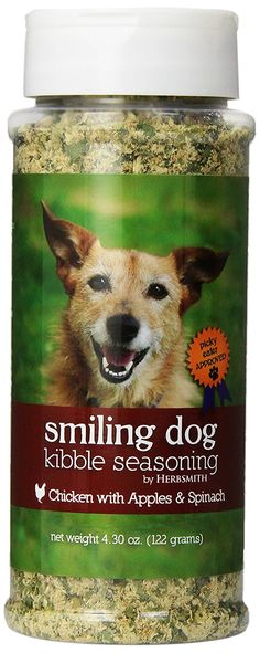 Herbsmith Smiling Dog Freeze Dried Kibble Seasoning with Chicken, Apples and Spinach for Dogs and Cats > For more information, visit now : Best dog food