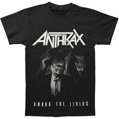 Tricou Anthrax: Among The Living - MetalHead Merch Among The Living, Metalhead, Large Black, Mens Tops, T Shirt, Clothes, Toys, Fashion, Supreme T Shirt