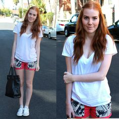 Forever 21 T Shirt, Sugarlips Apperal Shorts, Converse Shoes, Lindex Bag