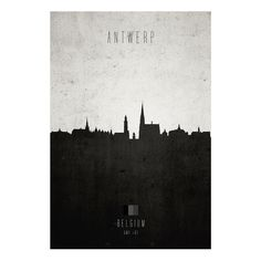 Antwerp Cityscape Print  by Cathryn Lavery