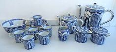 Antique c.1800s early MOSA 21-piece tea  coffee by BuyfromGroovy