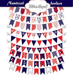 Nautical Borders Clipart Nautical Bunting by MissAngelClipArt