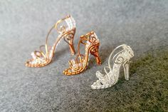 CINDERELLA SHOE Silver pendant Silver wire by MakeMyStyle on Etsy
