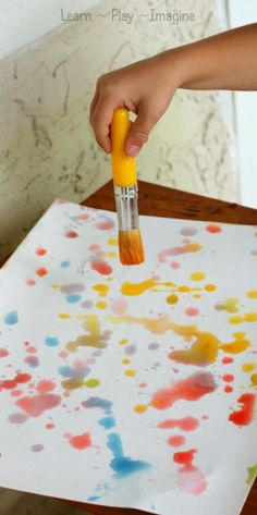 Painting with rain - scented homemade paint recipe made from just two ingredients, and one of them is rain!
