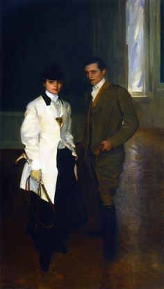 Charles Sumner Bird and His Sister Edith Bird Bass, Cecilia Beaux (1855—1942)