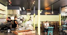 A creaky old corner store in Annerley has been stripped down and dressed up, forming the perfect suburban retreat for hot days. Introducing Ben O'Donoghue's new restaurant and cafe, Billy Kart Kitchen. Hot Days, Restaurants, Candles, Drinks, Brisbane, Kitchen, Food, Drinking, Beverages