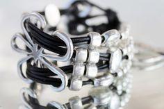 statement leather Bracelet beaded woman leather Bracelet