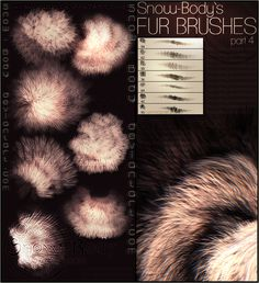 Brushes: Fur part: 4 by =Snow-Body on deviantART