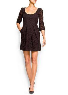 Lace dress with pockets, Mango, 39,99€