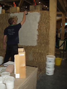 Straw bale house composition at eco build London 2011