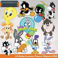 Adesivi Murali Looney Tunes.Pin By Malvia Jaxn On 1st Birthday Baby Looney Tunes Baby Looney