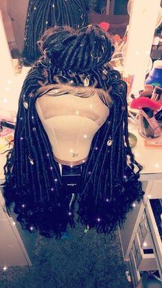 Faux Locs lace wig