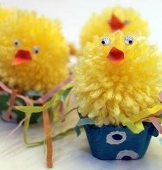Pom Pom Easter Chick Craft