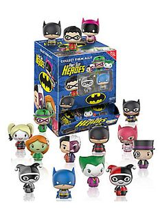 Introducing the newest line of collectible vinyl figures to the Funko family - Pint Size Heroes!<br><br>Created with Funko's signature flair for designing charming stylized vinyl, they've taken your favorite parts of Pop! and Dorbz and made them into an even smaller package – and all at a new low price!<br><br>This first series focuses on some of the biggest names in DC, specifically from the Batman Universe! Which one will you get? Batman, Robin, Batgirl, Catwoman? It's a ...