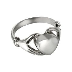 Cremation Jewelry: Sterling Silver Heart Cremation Ring